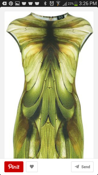 dress green dress alexander mcqueen