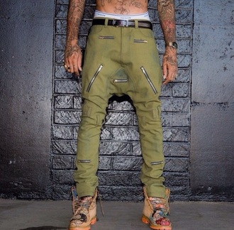 jeans green zip black white brown menswear pants mens pants boots timberlands mens watch drop crotch pants belt tattoo shoes mens cargo pants mens underwear mens belt
