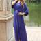 Deep blue silk dress