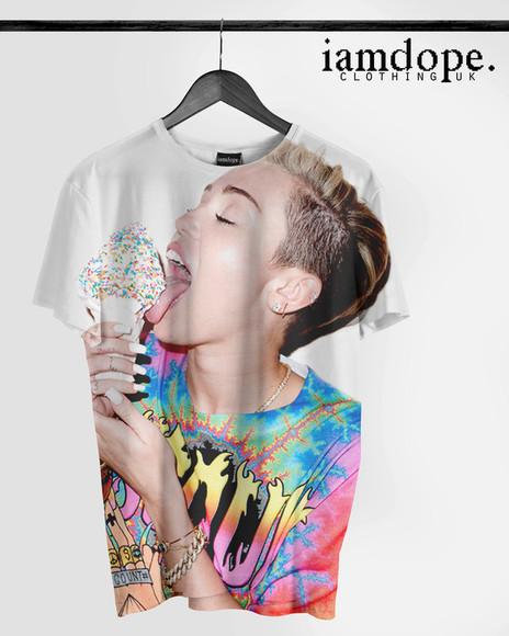 miley cyrus miley cyrus shirt miley cyrus miley cyrus miley cyrus swag dope wow tshirt dress tshirts chanel t-shirt tshirt, ysl