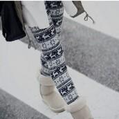 pants,christmas leggings