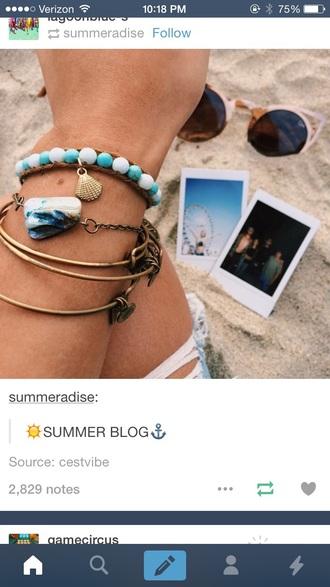 jewels shell bracelets jewelry tropical