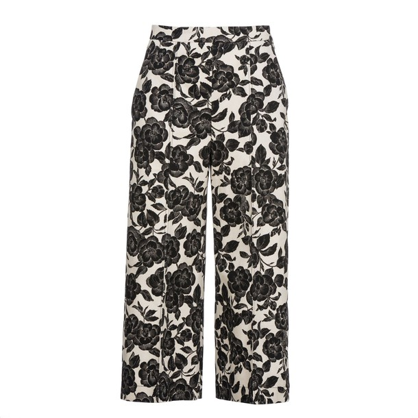 MSGM cropped floral print pants