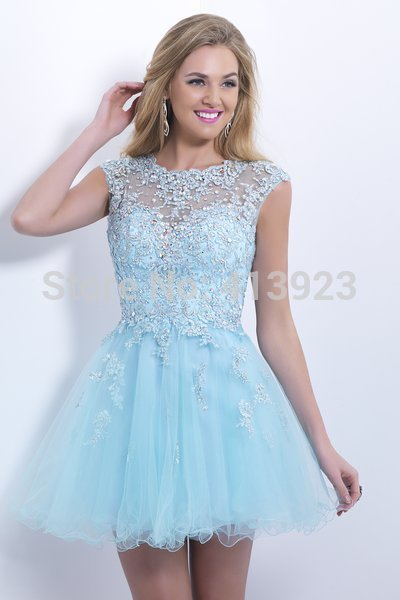Aliexpress.com : Buy Free Shipping Full Beaded Applique Ruffle Design Short Cap Sleeve Homecoming dresses 2014 from Reliable cap sleeve prom dress suppliers on Chaozhou City Xin Aojia dress Factory