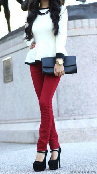 blouse black and white fashion