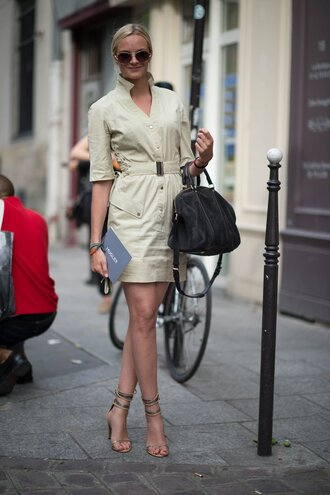 dress office outfits shirt dress nude dress sandals nude sandals isabel marant bag black bag sunglasses aviator sunglasses