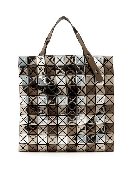 BAO BAO ISSEY MIYAKE metallic silver bag