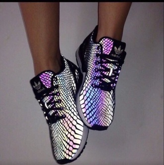 shoes nike rainbow cute shiny mettalic