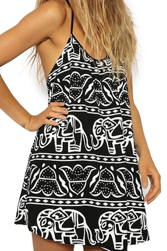 dress elephant black and white