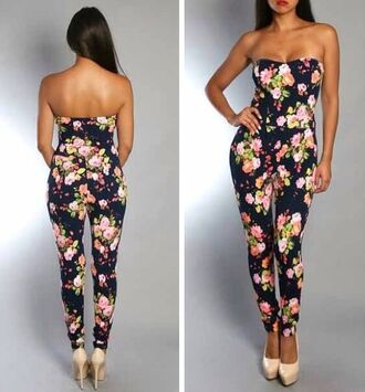 jumpsuit jumper sweater dress fashion flowers floral black colorful dark blue high heels brown high heels nude high heels love more wanthis elegant formal