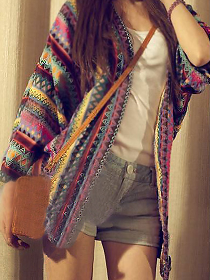 Aztec boho tribal native boyfriend cardigan