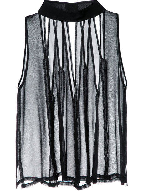 Taylor - Render tank top - women - Silk - L, Black, Silk