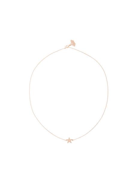 Mehem rose gold rose women necklace gold grey metallic jewels