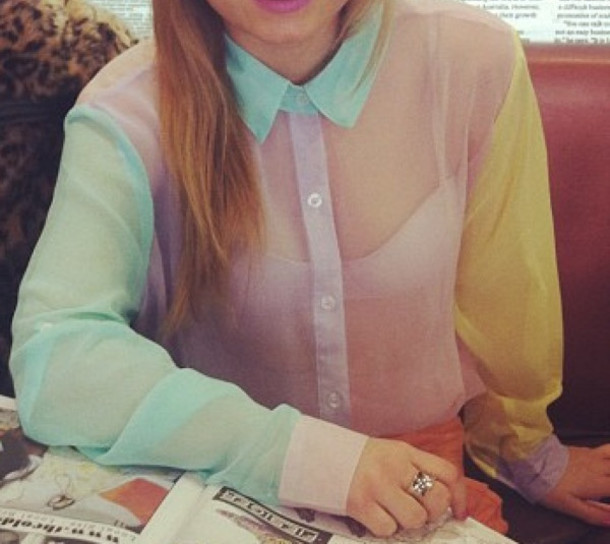 Shirt: clothes, chiffon, button down - Wheretoget