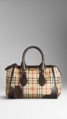 Small Haymarket Check Tote Bag | Burberry