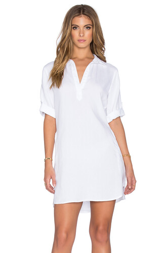 dress shirt dress white