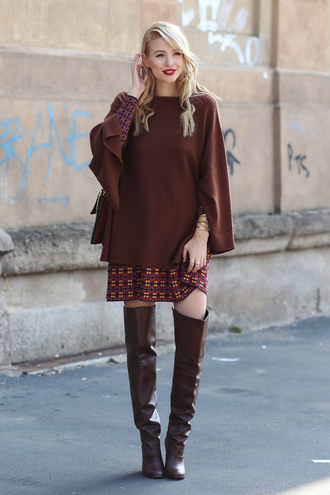 ohh couture blogger dress jewels sweater shoes bag