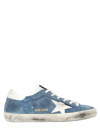 sneakers leather suede light blue light blue shoes