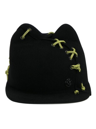 women hat black wool