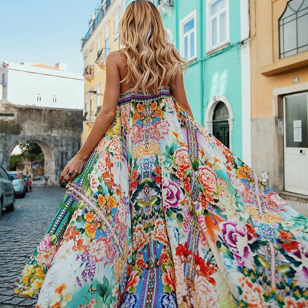 e766105377 dress beach dress boho dress vacation dresses coachella outfit floral dress  maxi dress floral maxi dress