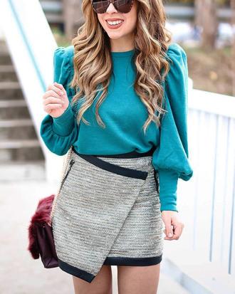 skirt glitter skirt silver skirt disco skirt mini skirt asymmetrical asymmetrical skirt top teal blue top glitter