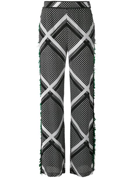 MSGM tassel women black silk pants