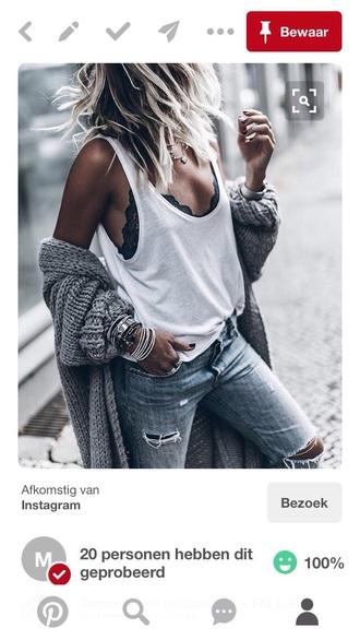 cardigan grey oversized cardigan