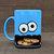 Googly Eyed Monster Dunk Mug - Ceramic Cookie and Milk Mug - READY TO SHIP