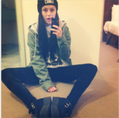 jacket,army green jacket,parka,leggings,obey beanie,hat,pants,shoes