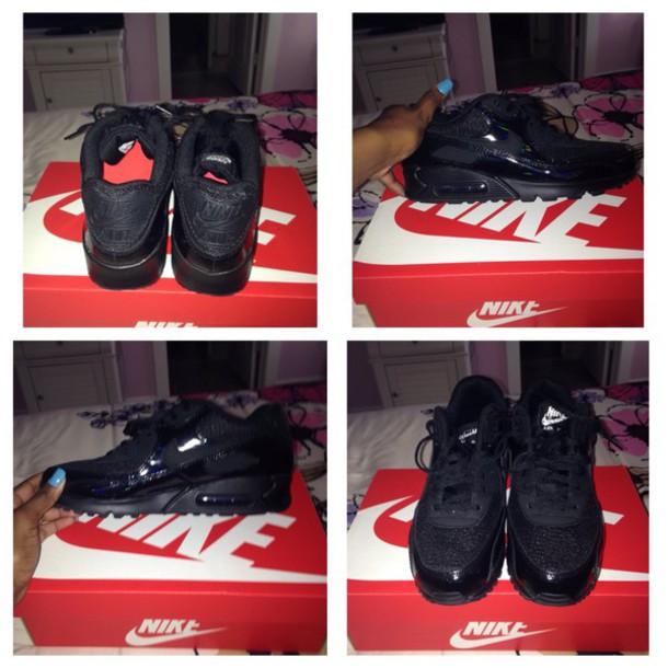 pretty nice 5f7ea d731c shoes black dress air max nike running shoes cute dress