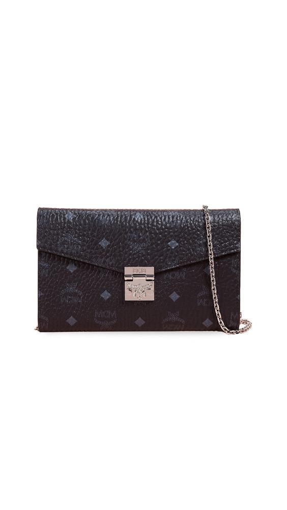MCM Patricia Large Crossbody Wallet in black
