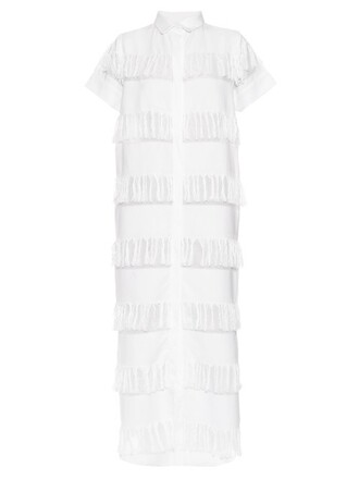shirtdress cotton white dress