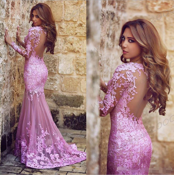 Dress Evening Dress Prom Dress Pink Lace Dress Dresses With