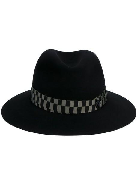 hat fedora black green