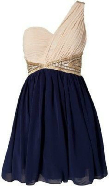 dress one shoulder blue white navy sequins blue dress navy short dress dress clothes prom dress little dress gold dress party dress shoes jewelry clutch cream homecoming beige gold and navy blue short dress colorful exactly like the picture navy dress gold belt