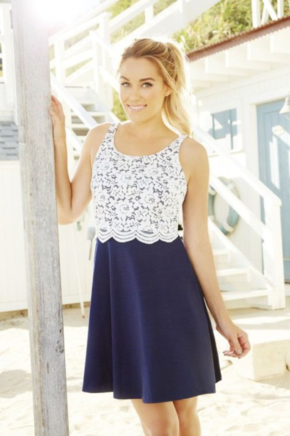 dress lace dress navy lauren conrad jacket