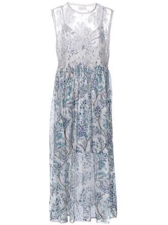 dress lace dress women lace floral white silk