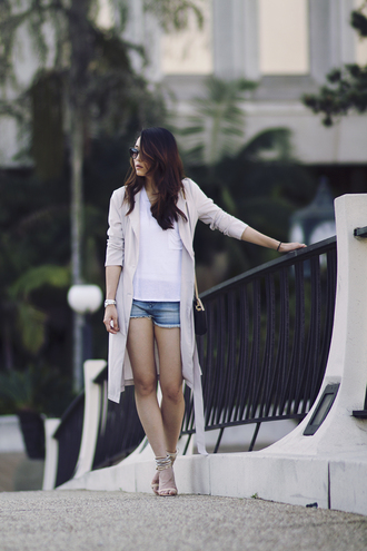 clothes to midnight blogger coat t-shirt shorts shoes bag