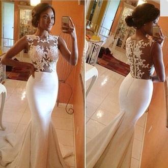 dress white lace white long dress prom dress wedding dress iphone