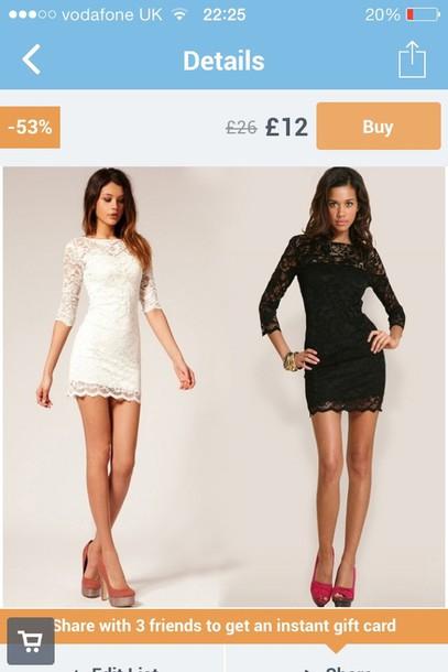 dress black white little black dress white dress white lace dress black lace dress sleeved long sleeve dress