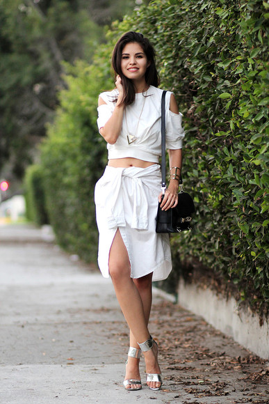 jewels blogger shoes skirt top fake leather