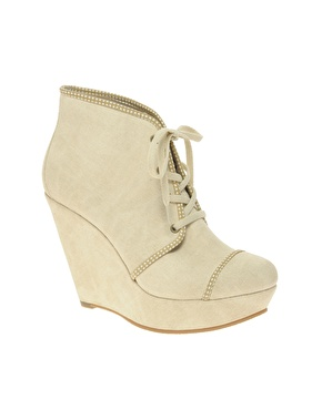 Asos avanti canvas wedge boot at asos
