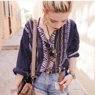 blouse tunic ethno guatemala vintage jeangreie jean greige boho