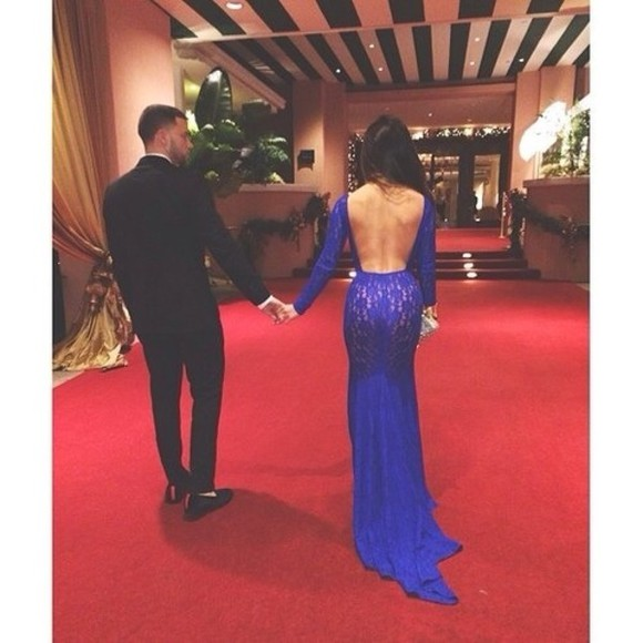 dress long sleeve prom dark blue dress backless prom dresses lace backless blue prom dress