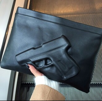 bag handbag gun handbag gun handbag clutch envelope bag gun black