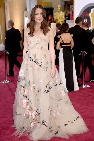 dress oscars 2015 gown red carpet dress keira knightley