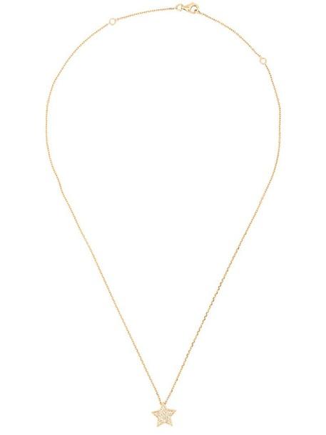 Alinka women necklace pendant gold yellow grey metallic jewels