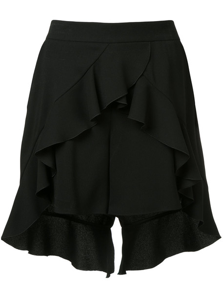 shorts women slit black