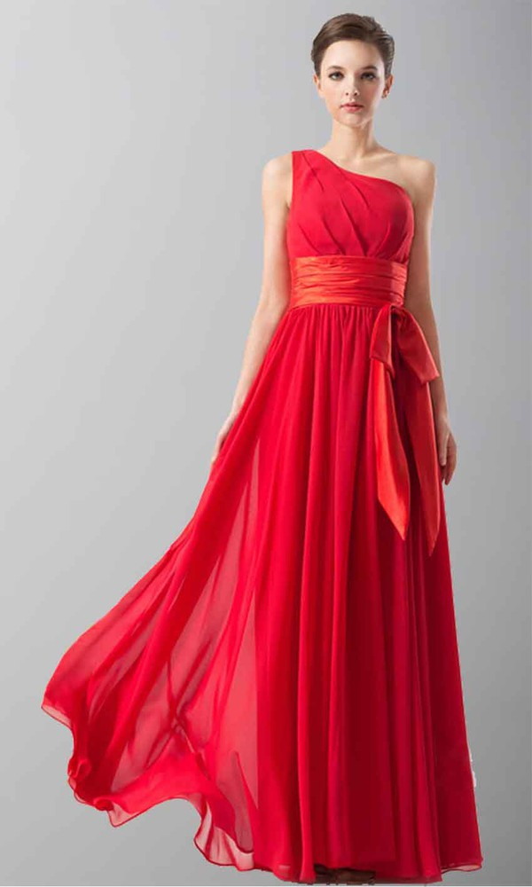 red dress one shoulder dresses bridesmaid bridesmaid long formal dress