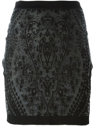 skirt short skirt short jacquard black